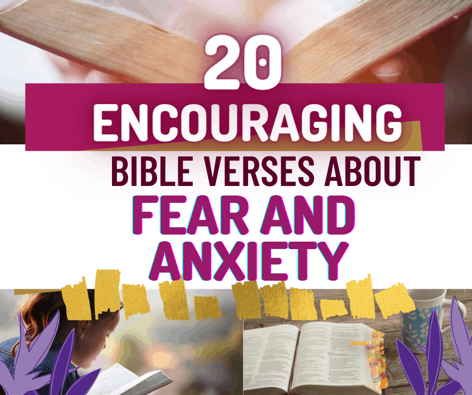 Grab these awesome and amazing 20 encouraging bible verses about fear and anxiety.