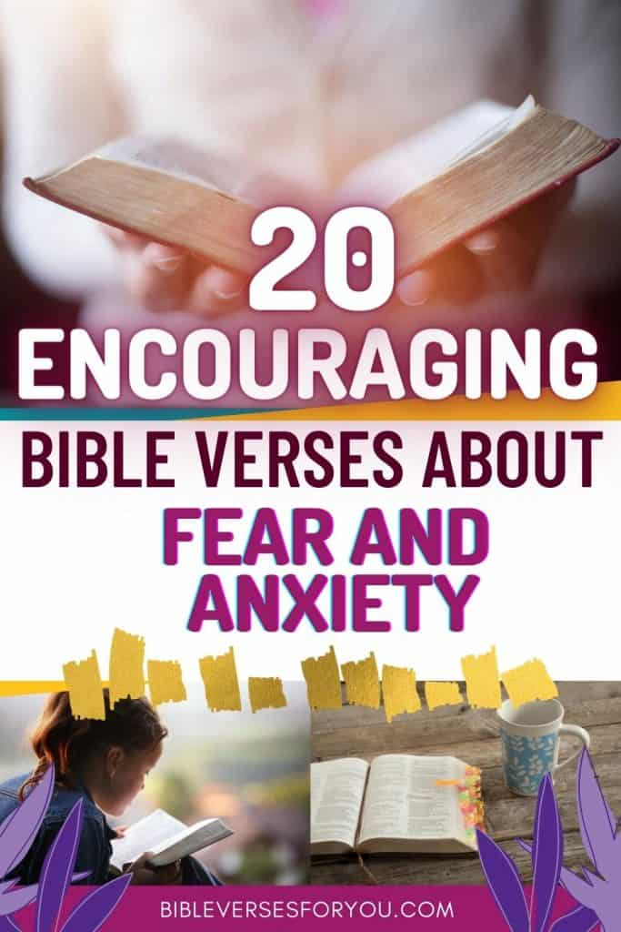 Grab these awesome and amazing 20 encouraging bible verses about fear, anxiety, and worry.