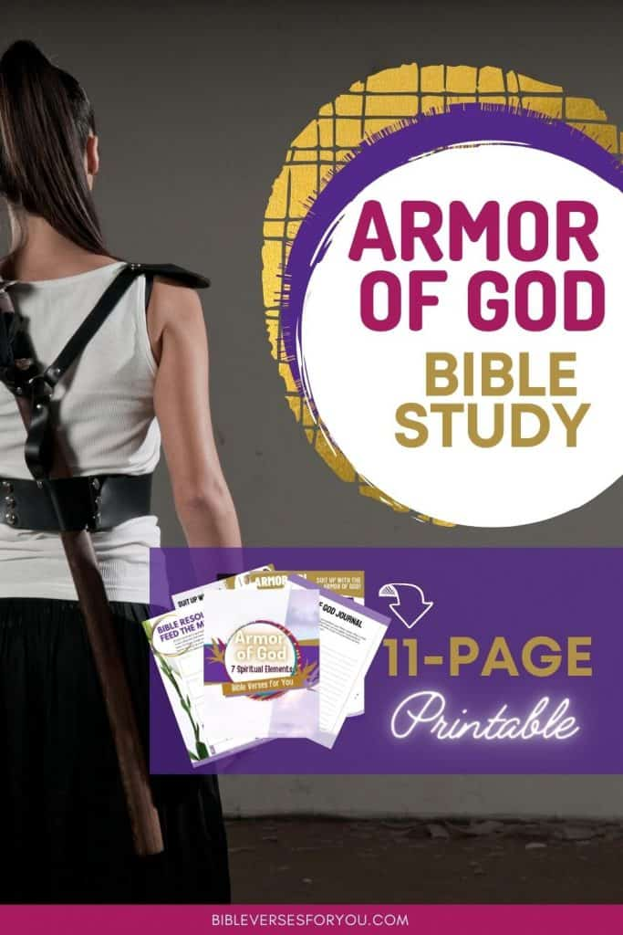 The armor of God bible study goes into detail how you can put the whole armor of God, plus an 11 page Armor of God Printable to help you memorize and encourage you to suit up!