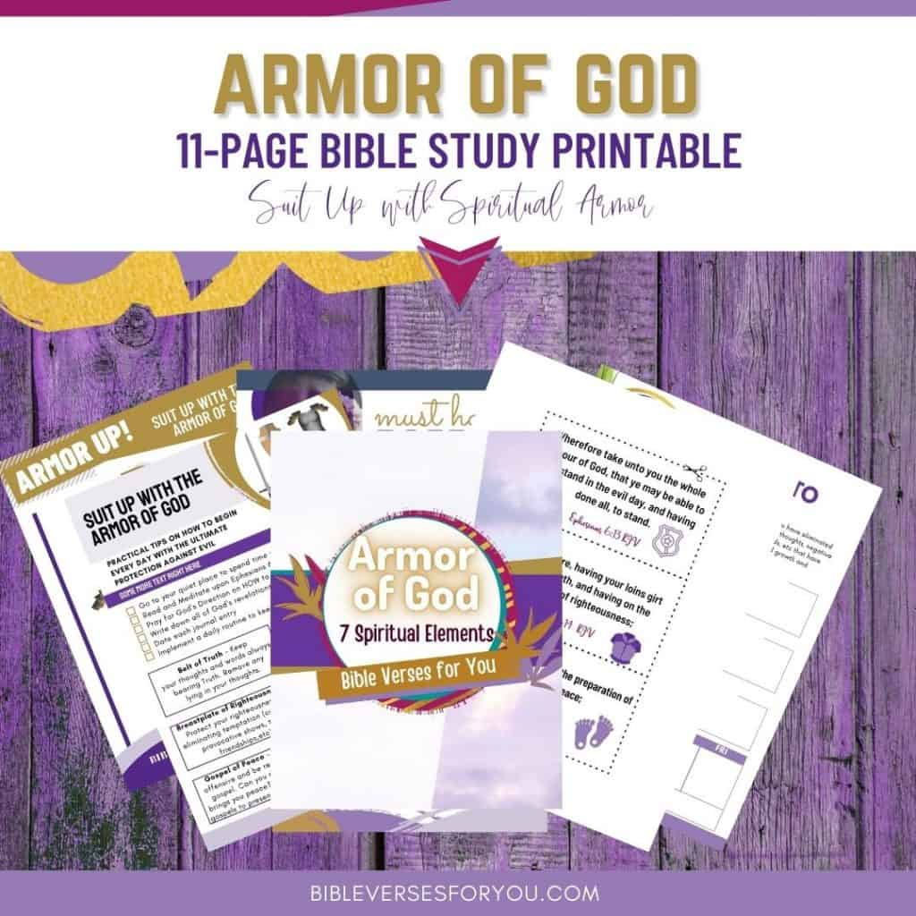 Suit up with the Armor of God bible study 11 page printable!