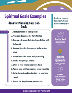 Spiritual Goals Worksheet you can download immediately for spiritual goals examples.