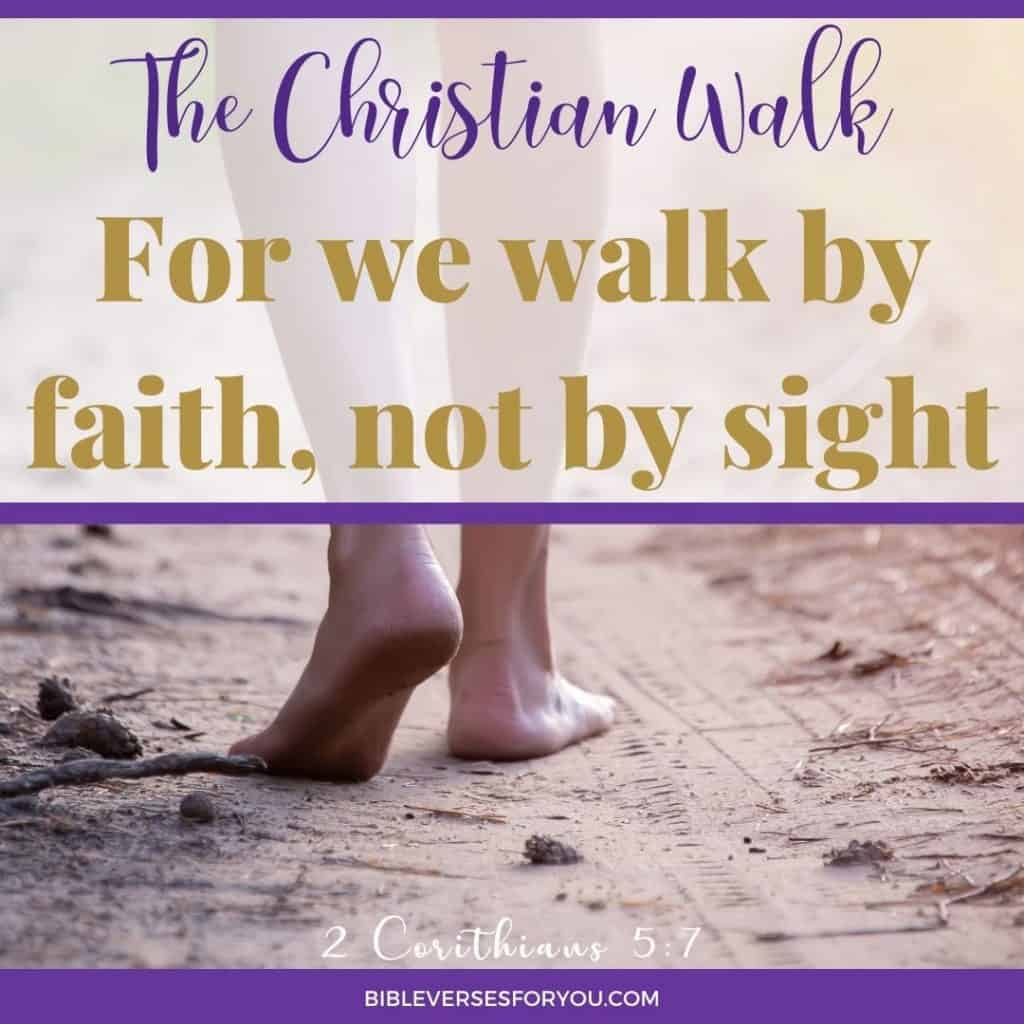 This walk with God quote talks about the Christian walk that requires a walk by faith, not by sight.